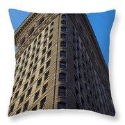 Flatiron Building New York Throw Pillow