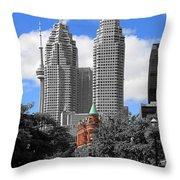 Flatiron Building Toronto 2c Throw Pillow