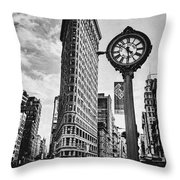 Flatiron Rush Throw Pillow