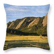 Flatirons From Chautauqua Park Throw Pillow