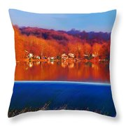 Flatrock Dam Throw Pillow