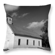 Flatt Rock Church Bw Throw Pillow
