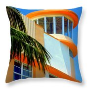 Flavour Of Miami Throw Pillow by Karen Wiles