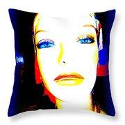 Flawless Face Throw Pillow