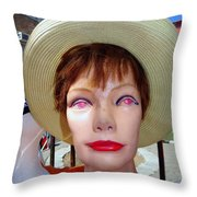Flea Market Fabulous Throw Pillow
