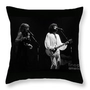 Fleetwood Mac In Amsterdam 1977 Throw Pillow