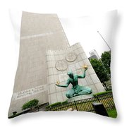 Flesh And Spirit Of Detroit Throw Pillow