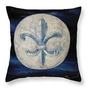 Fleur De Lies Moon Throw Pillow