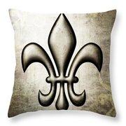 Fleur-de-lis V1 Throw Pillow