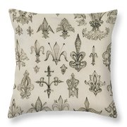 Fleur De Lys Designs From Every Age And From All Around The World Throw Pillow