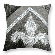 Fleur De Lys In Bali Throw Pillow