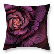 Fleur Pourpre Throw Pillow by John Edwards