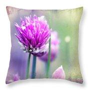 Fleurs De Oboulette Throw Pillow
