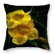 Fleurs Jaunes Throw Pillow