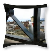 Flew In For Lunch Throw Pillow