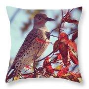 Flicker In Autumn Throw Pillow