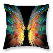 Flight Abstract Throw Pillow