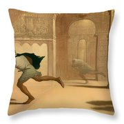 Flight And Pursuit Throw Pillow