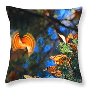 Flight Of A Monarch Throw Pillow