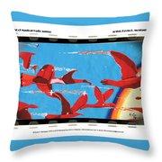 Flight Of Magical Gulls Anime Throw Pillow