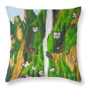 Flight Of The Monarchs Throw Pillow