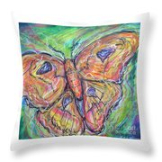 Flight Of The Moth Throw Pillow