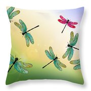 Flight Of The Scarlet Lady Throw Pillow by Jenny Armitage