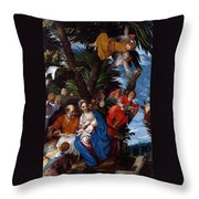 Flight To Egypt With Angels Throw Pillow
