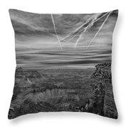 Flightpath-black And White Throw Pillow