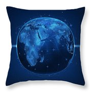Flights And Earth Throw Pillow by Gianfranco Weiss
