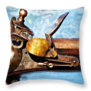 Flintlock Throw Pillow by Marty Koch