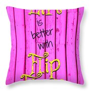 Flip Flop Life Throw Pillow