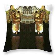 Flipped Gothic  Throw Pillow
