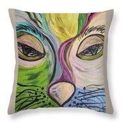 Flirty Feline ... Cat Eyes Throw Pillow by Eloise Schneider