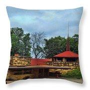 Fllw Welcome Center - Spring Green- Wisconsin Throw Pillow