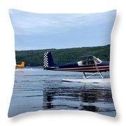 Float Planes On Keuka Throw Pillow