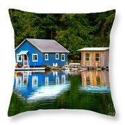 Floating Cabin Throw Pillow