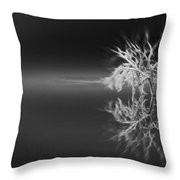 Floating Deadwood Black And White Throw Pillow