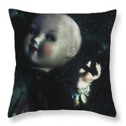 Floating Doll Throw Pillow
