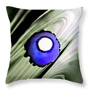 Floating Dot Abstract Alcohol Inks Throw Pillow