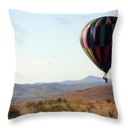 Floating Down The Hill Throw Pillow