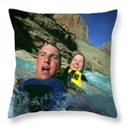 Floating Down The Little Colorado River Throw Pillow