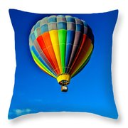 Floating Free In A Hot Air  Balloon Throw Pillow