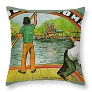 Floating Gardens Xochimilcho Mexico Throw Pillow