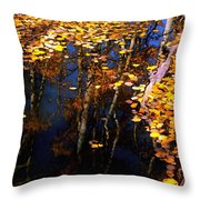 Floating Gold Throw Pillow
