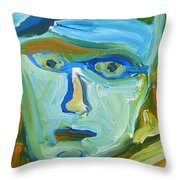 Floating Head Throw Pillow