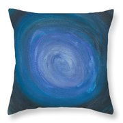 Floating Blues Throw Pillow
