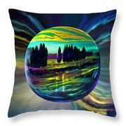 Floating Lavender Fields  Throw Pillow
