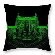 Floating Manor House In Green Throw Pillow