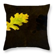 Floating Oil Throw Pillow